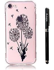 """inShang iphone 7 Funda Case de 4.7"""" [funda para iPhone de Transparente] [ 3D imagen con la tecnología de broncea], la cubierta protectora conveniente estilo nuevo case cover para el iPhone 7 + clase alta 2 in 1 inShang marca negocio Stylus pluma"""