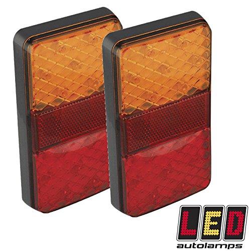 Paar Rechteck vollständig Tauchfähig Boot Trailer 12V LED-Lichter * Lebenslange Garantie * -