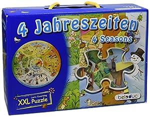 Beleduc - 11011 - Puzzle de Madera Educativo - 4 Seasons - XXL - 49 Piezas