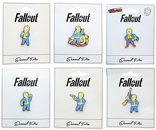 New York Comic-con (Unbekannt Fallout Enamel Collector Pin Set of 6: Charisma, Basher, Action Boy & More)