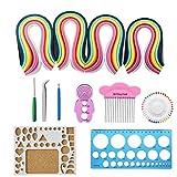 Papier Quilling Set, Twshiny 1040 Stücke Quilling Art Streifen in 26 Farben mit Quilling Werkzeug