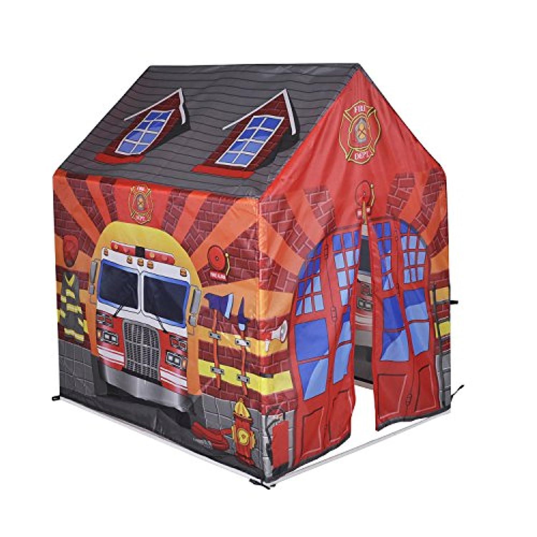Knorrtoys 55436 - Tenda per bambini, motivo  Caserma dei pompieri