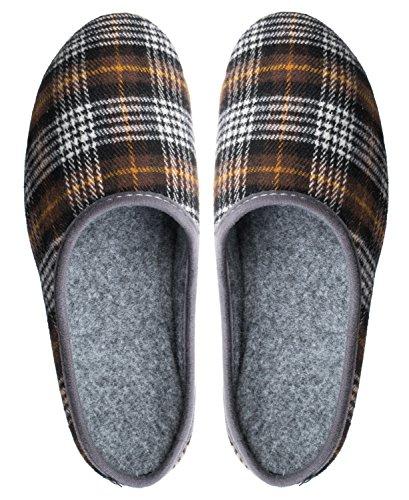 Feltro pantofole pantofole in feltro con suola in gomma da uomo Pat. Brown