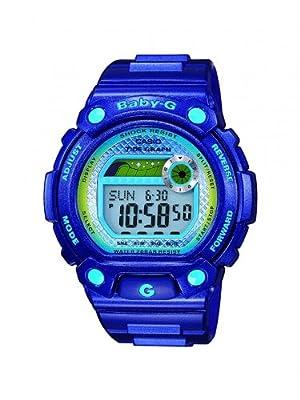 Casio Baby-G - Reloj digital de mujer de cuarzo con correa de resina azul (luz, alarma, cronómetro) - sumergible a 200 metros