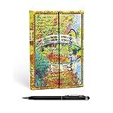 """Lot Agenda Paperblanks"""" Monet, Lettre à Morisot"""" Français Septembre 2019 à Septembre 2020 1 Jour par Page Midi + 1 Stylo Stylus Touch Blumie"""