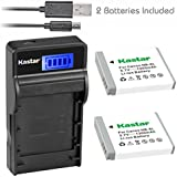 Kastar Camera Batteries (Pack Of 2) With Slim LCD USB Charger For Canon NB-6L & PowerShot SX710 HS SX530 HS SX520 HS SX510 HS SX500 IS SX700SX280 SX260 SX170 SD1300 SD1200 SD980 SD770 SD1300D30 D20 D10 IXUS 85 95 200