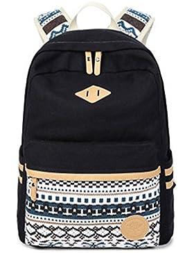 Schultasche Outdoor Freizeit Daypacks Backpack Mädchen Schulrucksack Damen Canvas Rucksack