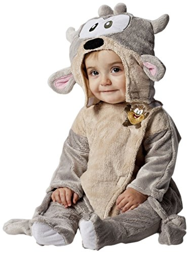 Joker d877-001 baby looney tunes taz costume di carnevale, in busta, grigio e beige