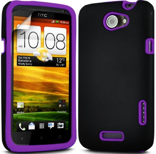 (Viola) HTC One X Dual Shock Protection ibrida della cassa