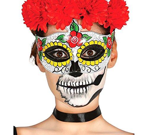 Guirca Fiestas GUI12907 - Gesichtsmaske Tag der Toten Frau (Dia De Los Muertos Traditionellen Kostümen)