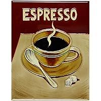 Espresso Ceramic Tile Art by Old Tupton Ware