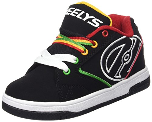 Heelys Bambino Propel 2.0 770603 Scarpe con 1 rotella, Multicolore (Black/Reggae), 35