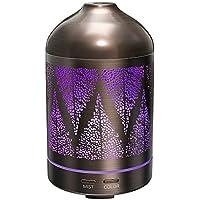 Humidificador Aromaterapia 100ml TaoTronics Difusor Aroma de Aceites escenciales ( Funda de Acero Inoxidable, Diseño clásico, luz nocturna, Ultrasónico, 10W, 7 colores de luz, Ambientador de Vapor Frío)