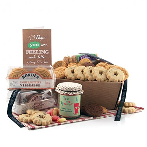Biscuits Gift Selection - Tea and Sympathy Biscuit Favourites Hamper Ideal Get Well Soon Gift Available for Next Day Delivery for Hospital Gifts - Selection of Biscuits and Biscuit Tin