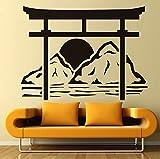 zhangsh Adesivi Murali personalità Torii Japan Adesivi Murali Porta Adesivi in Vinile Decorazione Domestica Adesivi Murali Staccabili Accessori Camera da Letto 59X44Cm