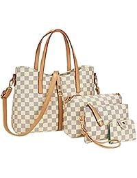 TIBES PU cuir sac à main + épaule de sac de femmes de la mode + porte-monnaie + carte 4pcs mis