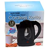 Lloytron E1501BK Stainless Steel Cordless Kettle