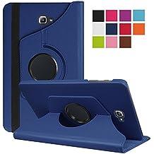 Funda Tablet Samsung Galaxy Tab 10.1, DETUOSI Giratoria 360 Grados Fundas Cubierta de PU Cuero Smart Case Cover Protectora Carcasa con Stand Función para Samsung Galaxy Tab A 10.1 Pulgadas SM-T580N / T585N Tablet -Azul oscuro
