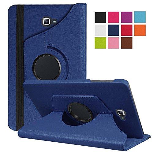 DETUOSI Funda Compatible con Galaxy Tab A6 10.1 2016, 360° Fundas Cubierta de PU Cuero Smart Case Cover Protectora Carcasa con Stand para Galaxy Tab A 10.1 Pulgadas SM-T580N/T585N-Azul Oscuro