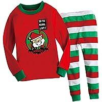 2pz Bamini Abbigliamento Natale Festa Partito Decorazione Shirt Top Manica Lunga Mutandoni Pantalone Vestito