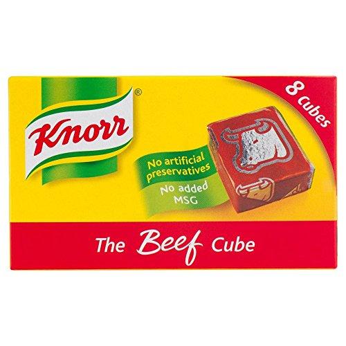 Knorr - Bouillon de boeuf - 8 cubes - lot de 4 boîtes de 80 g