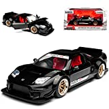 Jada Honda NSX Type-R Japan Spec Widebody Schwarz 2002 1/24 Modell Auto