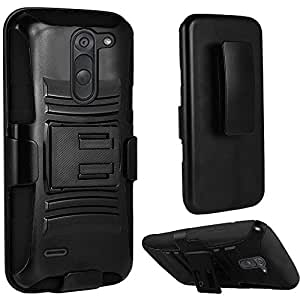 HR Wireless Phone Case for LG G3 Stylus - Retail Packaging - Black
