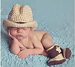 YHC born Baby G-137 Cowboy Toddler Infant Knitted Costume Set Photo Outfits Prop from Huizhou City Junsi Electronics Co., Ltd.