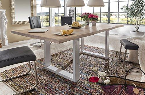 Holzwerk Esstisch Wildeiche Massivholztisch Tisch Baumkante Eiche Esszimmer 180×100 200×100 220×100