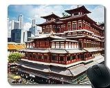 Yanteng Tapis de Souris personnalisé, tête de Bouddha en Peinture de Budha, Base en...