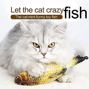 HuaYang 20cm Longueur jouet de poissons chats peluche en tissu Poissons Simulation - Maquereau