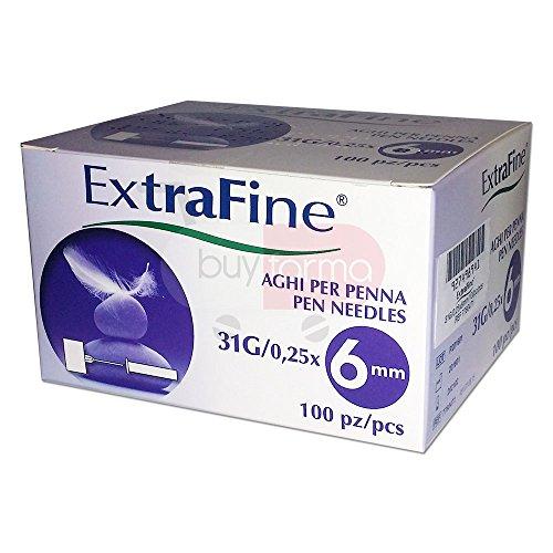 Desa Pharma Ago Per Penna Da Insulina Extrafine G31 6 mm 100 Pezzi