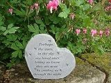 Garten Accent Herz. Vielleicht die Stars in the Sky. Tolle Gedanken Garten Akzente Graveside Vorlagen Grave Ornament mit Gravur