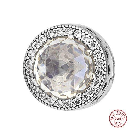 MOCCI Europäische Herbst Leuchtende Herzen Stopper Clip Perlen DIY Passt für Original Pandora Armbänder 925 Silber Charme Machen Schmuck