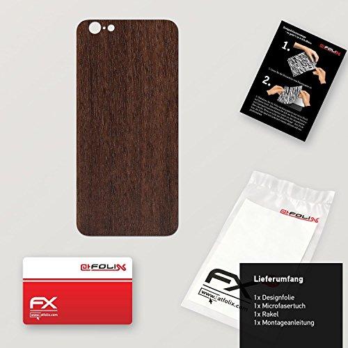 "Skin Apple iPhone 6 ""FX-Leather-Black"" Sticker Autocollant FX-Wood-Teak"