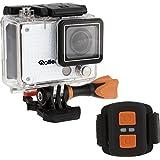 Rollei Actioncam 420 Caméscope WiFi de 12 Mégapixels - Resolution Vidéo 4K/2K et Full HD - Imperméable à 40 m Blanc