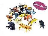 36er Set Tier Figuren Zoo Tiere - Spielfiguren, Give Away, Mitgebsel Kindergeburtstag