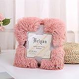 myru Plüsch Super Weiche Decke Bettwäsche Sofabezug Pelzigen Fuzzy Fur Warme Decke Quilt Gemütliche Couch Decke Für Den Winter(130 * 160cm,Schmutziges Rosa)