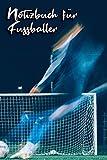 Notizbuch für Fussballer: Ballsport - weiß gepunktet - ähnlich DIN A5