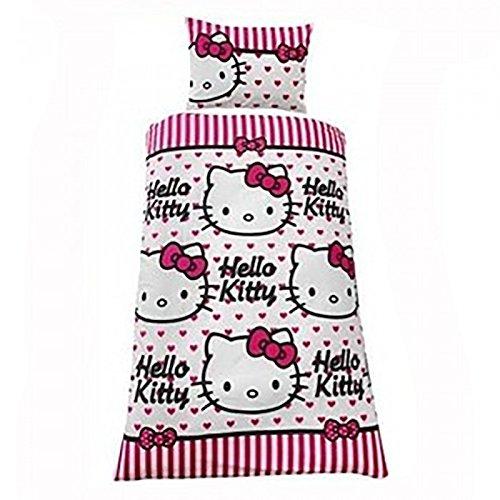Hello Kitty - Juego de fundas para edredón y almohadón con diseño...