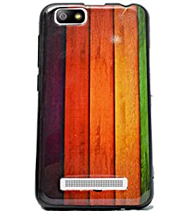 ECellStreet Printed Back Case Cover Back Cover For Lava Flair P3 - Wooden