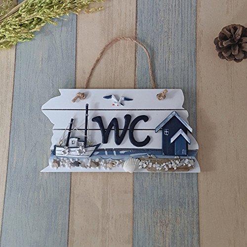 Wuudi Haushalt Essential Schild Washroom, House Wand Dekoration Schiff Serie