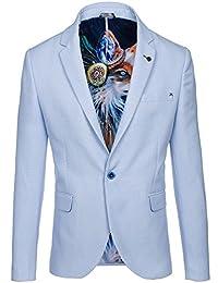 BOLF – Blazer – Costume – Veste – Slim fit – Élégant – Moderne – Motif – Homme [4D4]