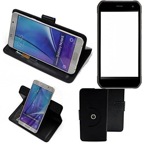 K-S-Trade® Case Schutz Hülle Für -Cyrus CS 40- Handyhülle Flipcase Smartphone Cover Handy Schutz Tasche Bookstyle Walletcase Schwarz (1x)