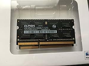 Elpida ebj41uf8bdu5-gn-f 4GB 2Rx81.50V 204broches SoDIMM PC3–12800S-11–10-F31600MHz DDR3mémoire pour ordinateur portable/notebook