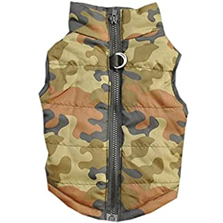 Doggie Style Store Green Camouflage Camo Dog Pet Puppy Puffer Warm Winter Padded Quilted Vest Coat Jacket Size XS 14