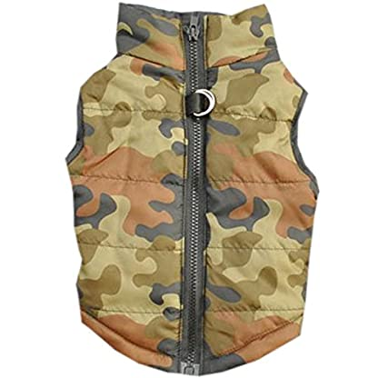 Doggie Style Store Green Camouflage Camo Dog Pet Puppy Puffer Warm Winter Padded Quilted Vest Coat Jacket Size XS 1