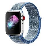 HILIMNY Für Apple Watch Armband 38MM, Ersatz für iwatch Armband Series 3, Series 2, Series 1 (Seeblau, 38MM)
