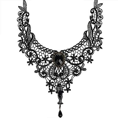 Contever® Vintage Gothic Victorian Classic Necklace 30cm Elegant Lace Choker