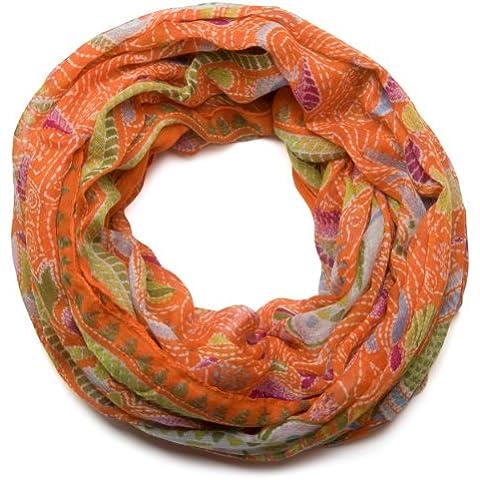 styleBREAKER bufanda tubo bucle animal print con modelo de paisley 01014010